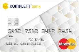 Bästa kreditkortet Komplett bank