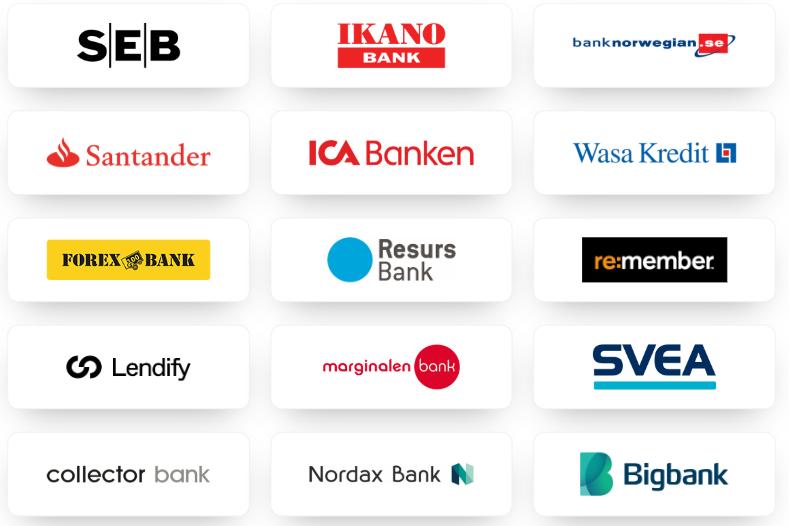 Banker som samarbetar med Payfinans